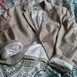 H&M blazer khaki size 12